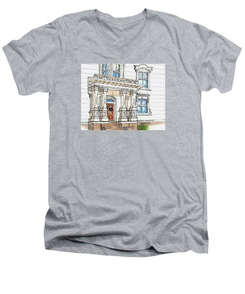 Essex Street Front Door Men's V-Neck T-Shirt by Paul Meinerth