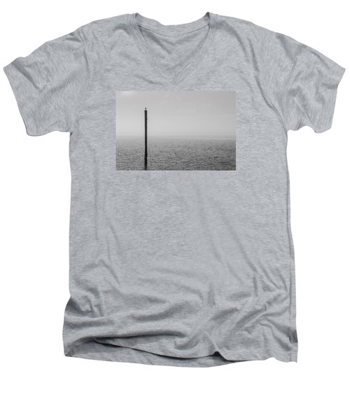 Fog On The Cape Fear River Men's V-Neck T-Shirt