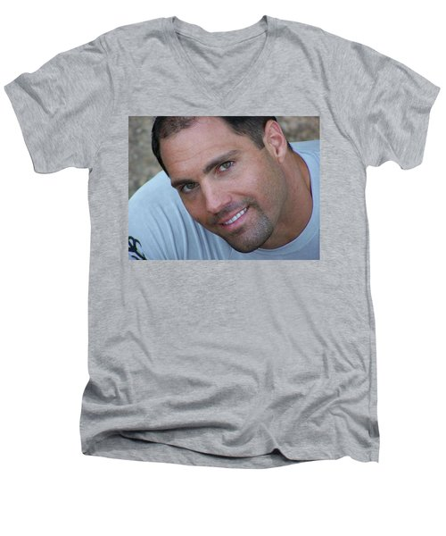 Men's V-Neck T-Shirt featuring the photograph Franco Corelli by Jake Hartz
