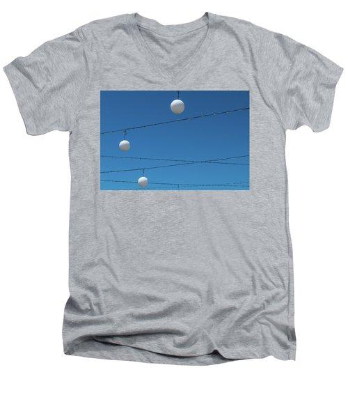 3 Globes Men's V-Neck T-Shirt
