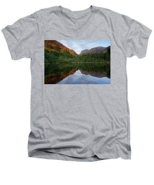 Golden Light In Glencoe Men's V-Neck T-Shirt