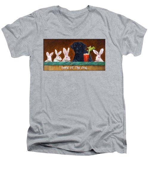 Hare Of The Dog... Men's V-Neck T-Shirt
