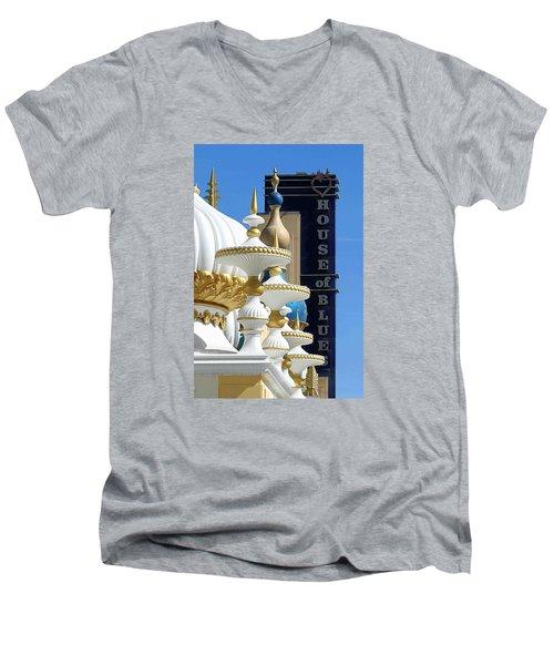 Men's V-Neck T-Shirt featuring the photograph House Of Blues by Allen Beilschmidt
