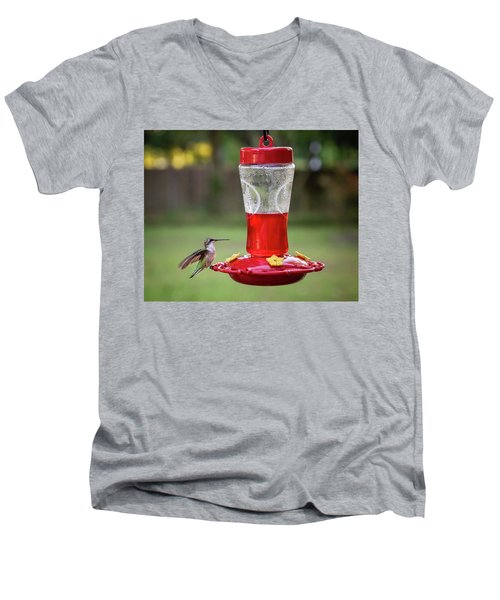 My Sweet Hummingbird Men's V-Neck T-Shirt