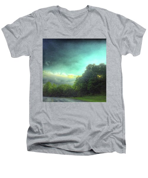 Men's V-Neck T-Shirt featuring the photograph 3 June 16 by Toni Martsoukos