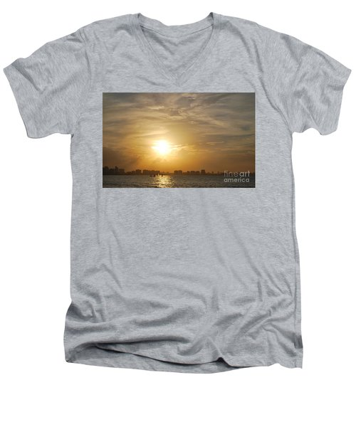 Men's V-Neck T-Shirt featuring the photograph Loyda's Point Of View by Reina Resto