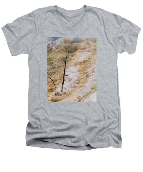 Mammoth Hot Spring Terraces Men's V-Neck T-Shirt