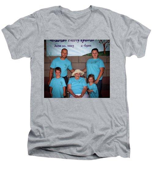 Mcquillen Family Reunion 2017 Men's V-Neck T-Shirt