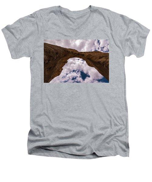 Monument Rocks Men's V-Neck T-Shirt by Jay Stockhaus