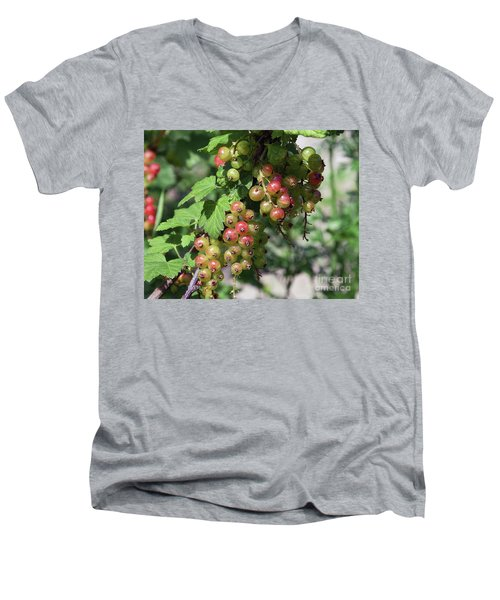Men's V-Neck T-Shirt featuring the photograph My Currant by Elvira Ladocki