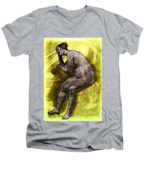 Nude Woman Men's V-Neck T-Shirt