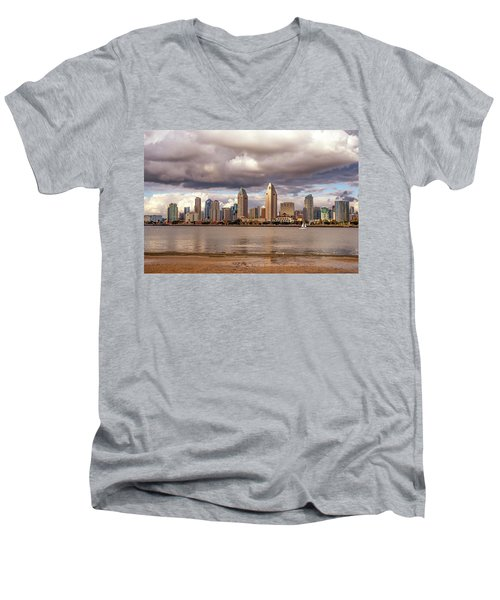 Passing By Men's V-Neck T-Shirt by Joseph S Giacalone