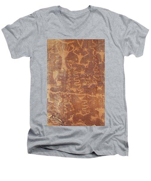 Petroglyph - Fremont Indian Men's V-Neck T-Shirt