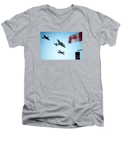 3 Pieces Of History Men's V-Neck T-Shirt
