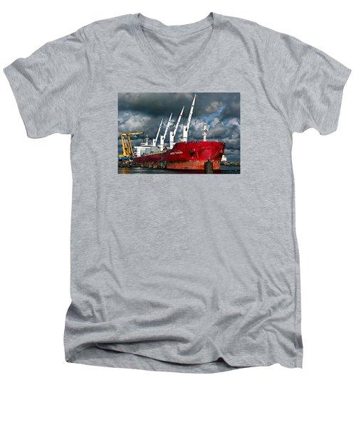 Port Of Amsterdam Men's V-Neck T-Shirt