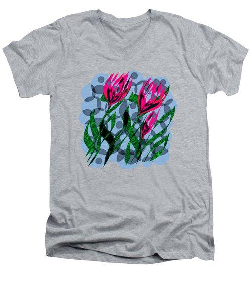 3 Posies Men's V-Neck T-Shirt