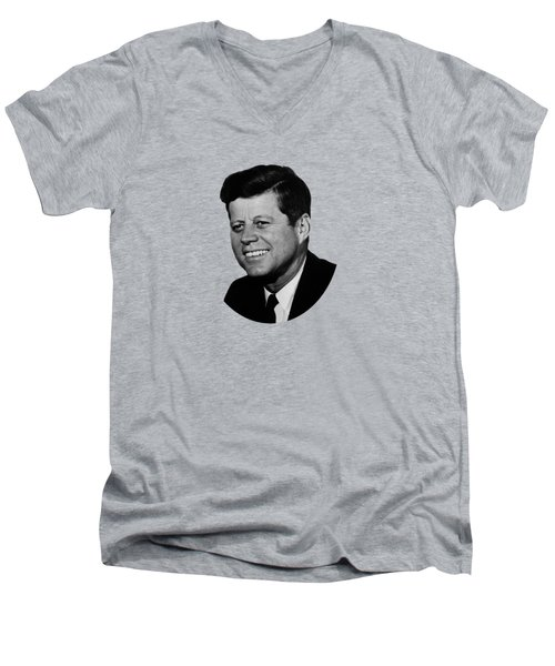 President Kennedy Men's V-Neck T-Shirt by War Is Hell Store