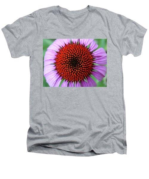 Purple Coneflower  Men's V-Neck T-Shirt by Rebecca Overton