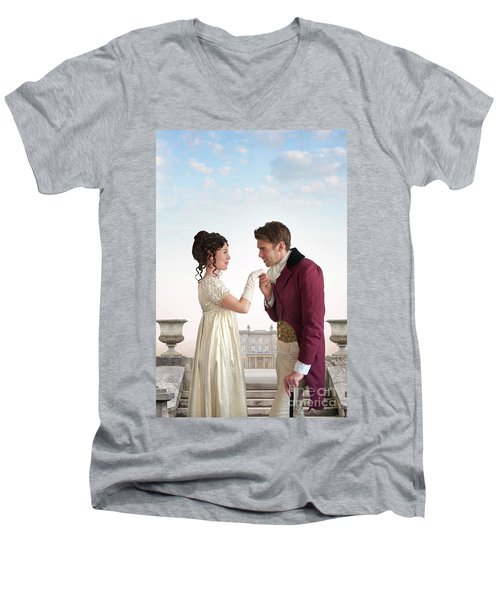 Regency Couple  Men's V-Neck T-Shirt