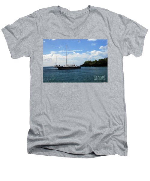 Men's V-Neck T-Shirt featuring the photograph Sail Boat by Gary Wonning