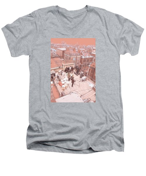 3 Savile Row, London W1s 3pb Men's V-Neck T-Shirt