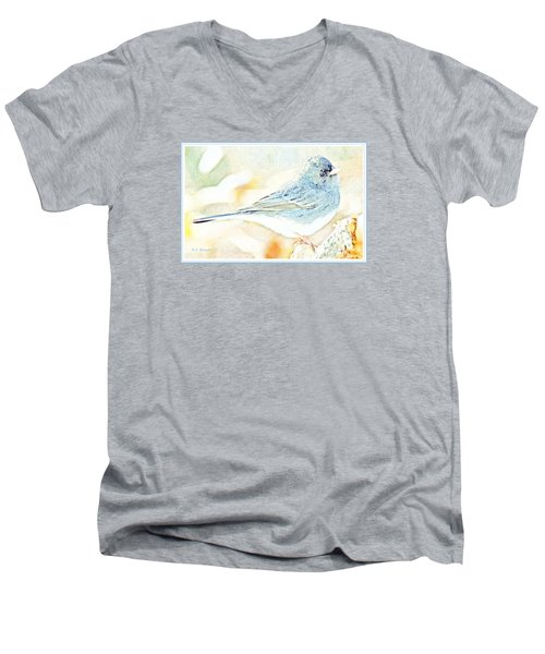 Slate-colored Junco, Snowbird, Male, Animal Portrait Men's V-Neck T-Shirt by A Gurmankin