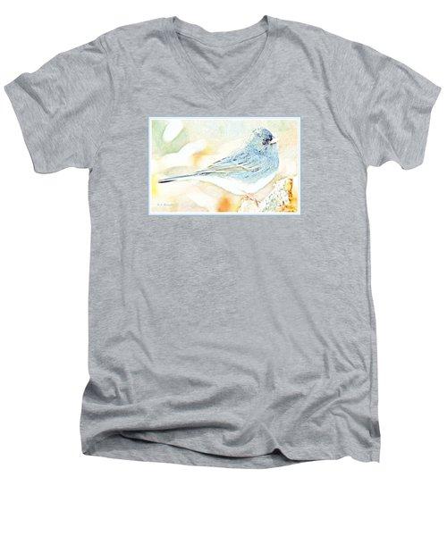 Slate-colored Junco, Snowbird, Male, Animal Portrait Men's V-Neck T-Shirt