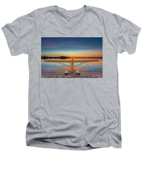 Splash-in Sunrise  Men's V-Neck T-Shirt
