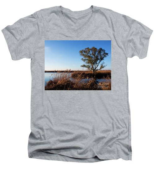 Sunrise In The Ditch Burlamacca Men's V-Neck T-Shirt