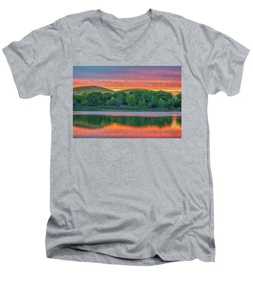 Sunrise Reflection Men's V-Neck T-Shirt