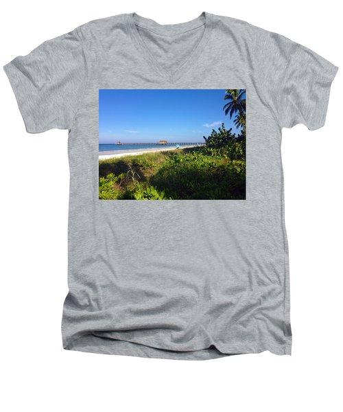 The Historic Naples Pier Men's V-Neck T-Shirt