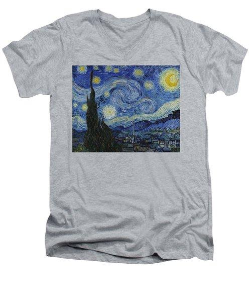 The Starry Night Men's V-Neck T-Shirt