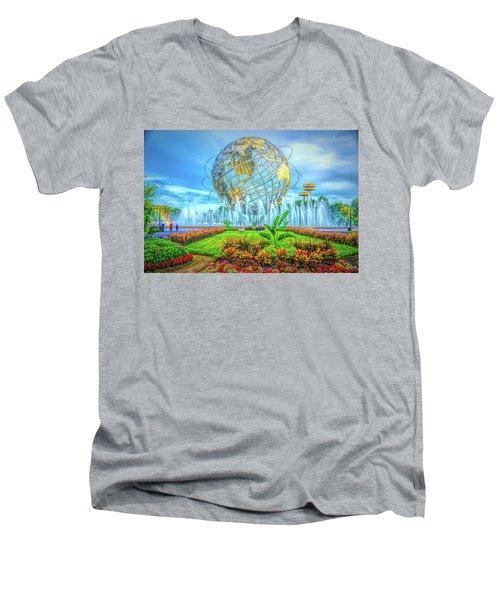 The Unisphere Men's V-Neck T-Shirt