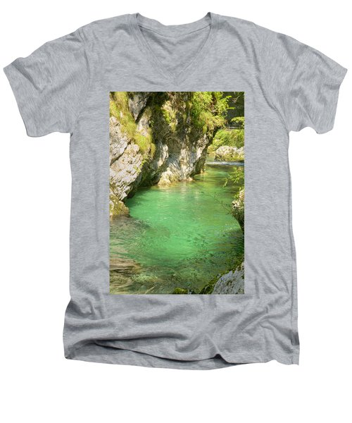 The Vintgar Gorge Men's V-Neck T-Shirt