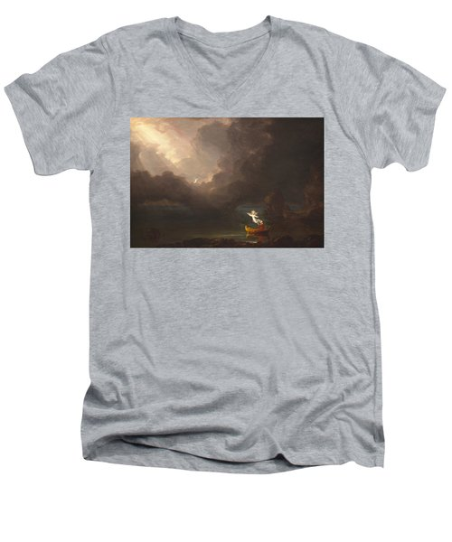 The Voyage Of Life Old Age Men's V-Neck T-Shirt
