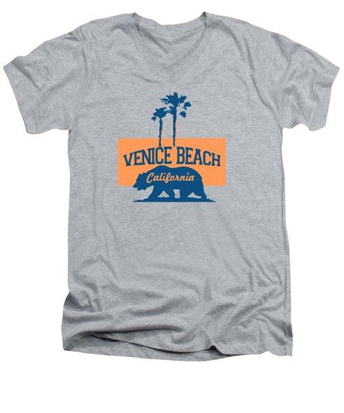 Venice Beach La. Men's V-Neck T-Shirt