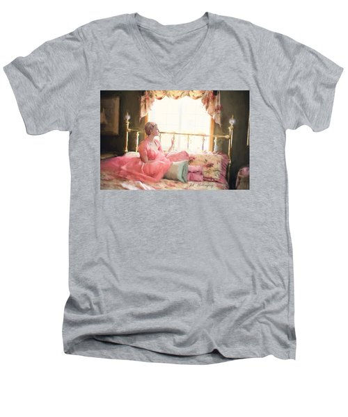 Vintage Val Bedroom Dreams Men's V-Neck T-Shirt