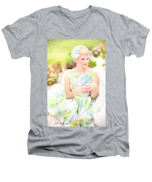 Vintage Val Iced Tea Time Men's V-Neck T-Shirt