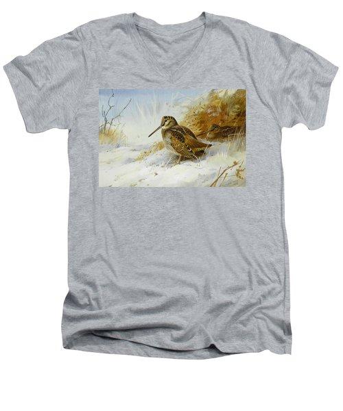 Winter Woodcock Men's V-Neck T-Shirt