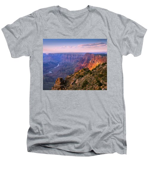 Canyon Glow Men's V-Neck T-Shirt by Mikes Nature
