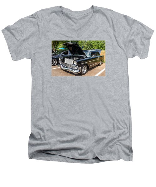 Hall County Sheriffs Office Show And Shine Car Show Men's V-Neck T-Shirt by Michael Sussman