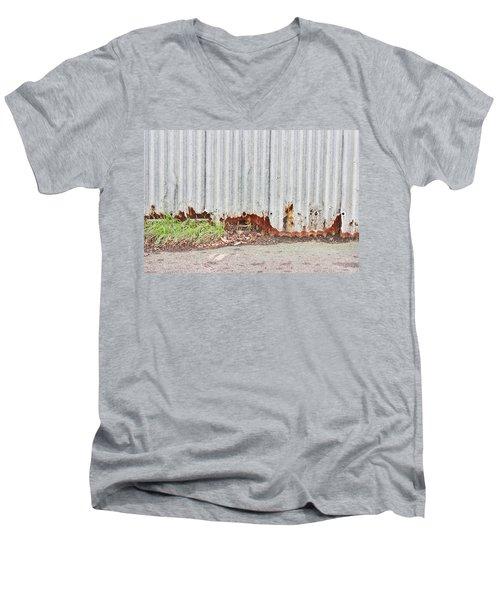 Rusty Metal Men's V-Neck T-Shirt