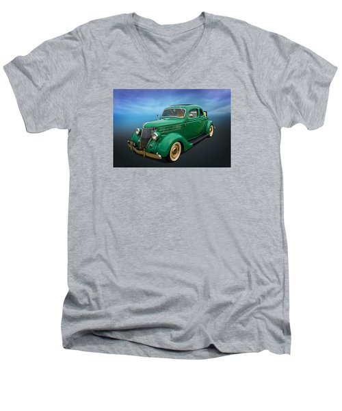 36 Ford Men's V-Neck T-Shirt by Keith Hawley