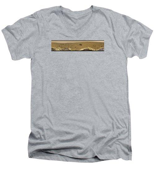 360 Degree Panorama Mars Pathfinder Landing Site Men's V-Neck T-Shirt