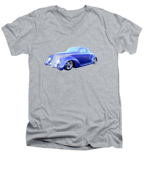 37 Coupe The Car Of Tomorrow From Yesterday Men's V-Neck T-Shirt