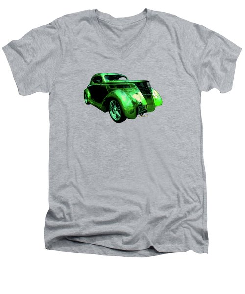 37 Ford Street Rod Luv Me Green Meanie Men's V-Neck T-Shirt
