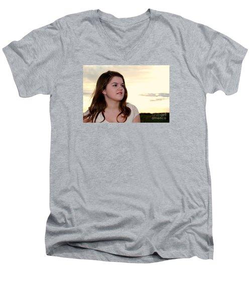 3790 Men's V-Neck T-Shirt by Mark J Seefeldt