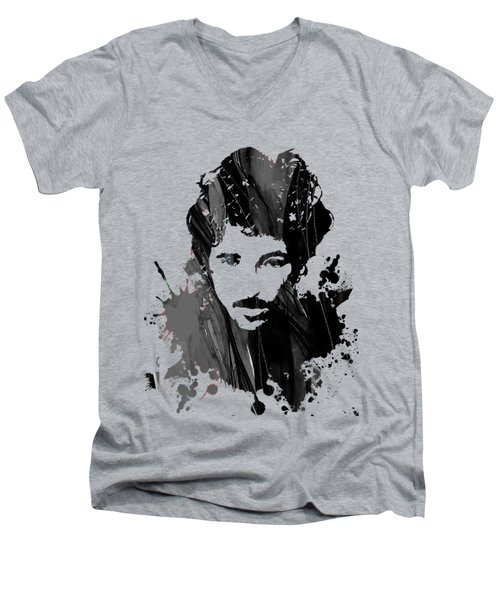 Bruce Springsteen Collection Men's V-Neck T-Shirt by Marvin Blaine