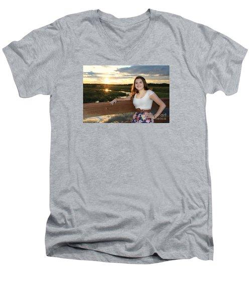 3833 Men's V-Neck T-Shirt by Mark J Seefeldt