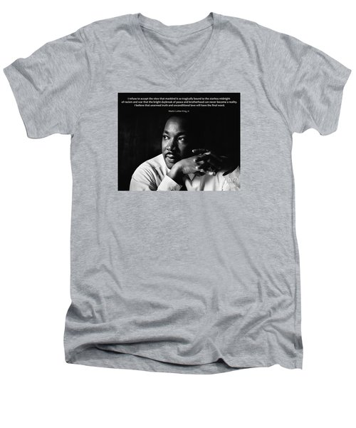 39- Martin Luther King Jr. Men's V-Neck T-Shirt